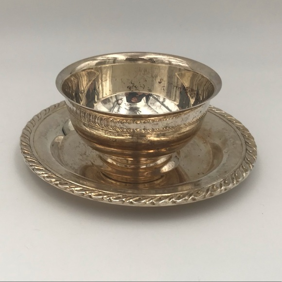 Vintage Oneida Silver Plated Bowl with Plate